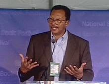 Walter Dean Myers speaking at Library of Congress