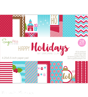 Happy Holidays Paper Pad