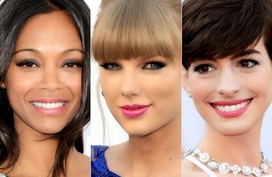 selebriti yang memakai lipstik pink klasik