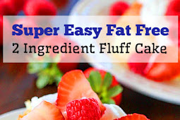 Super Easy Fat Free 2 Ingredient Fluff Cake