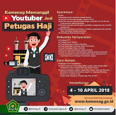Lowongan Kerja Kemenag RI Calon Anggota MCH 2018
