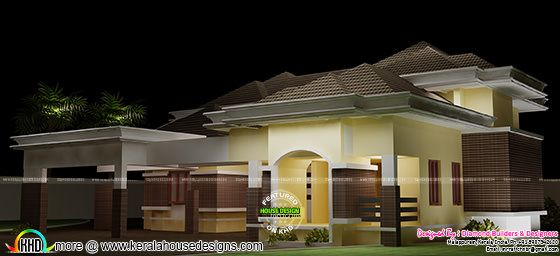 Modern home plan by Diamond builders