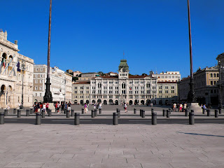 Trieste's vast Piazza Unità d'Italia is the focal point of the port city in northeastern Italy
