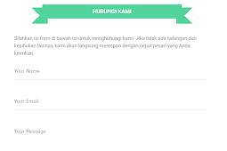 Cara membuat Contact Us (Contact Form) di Blog