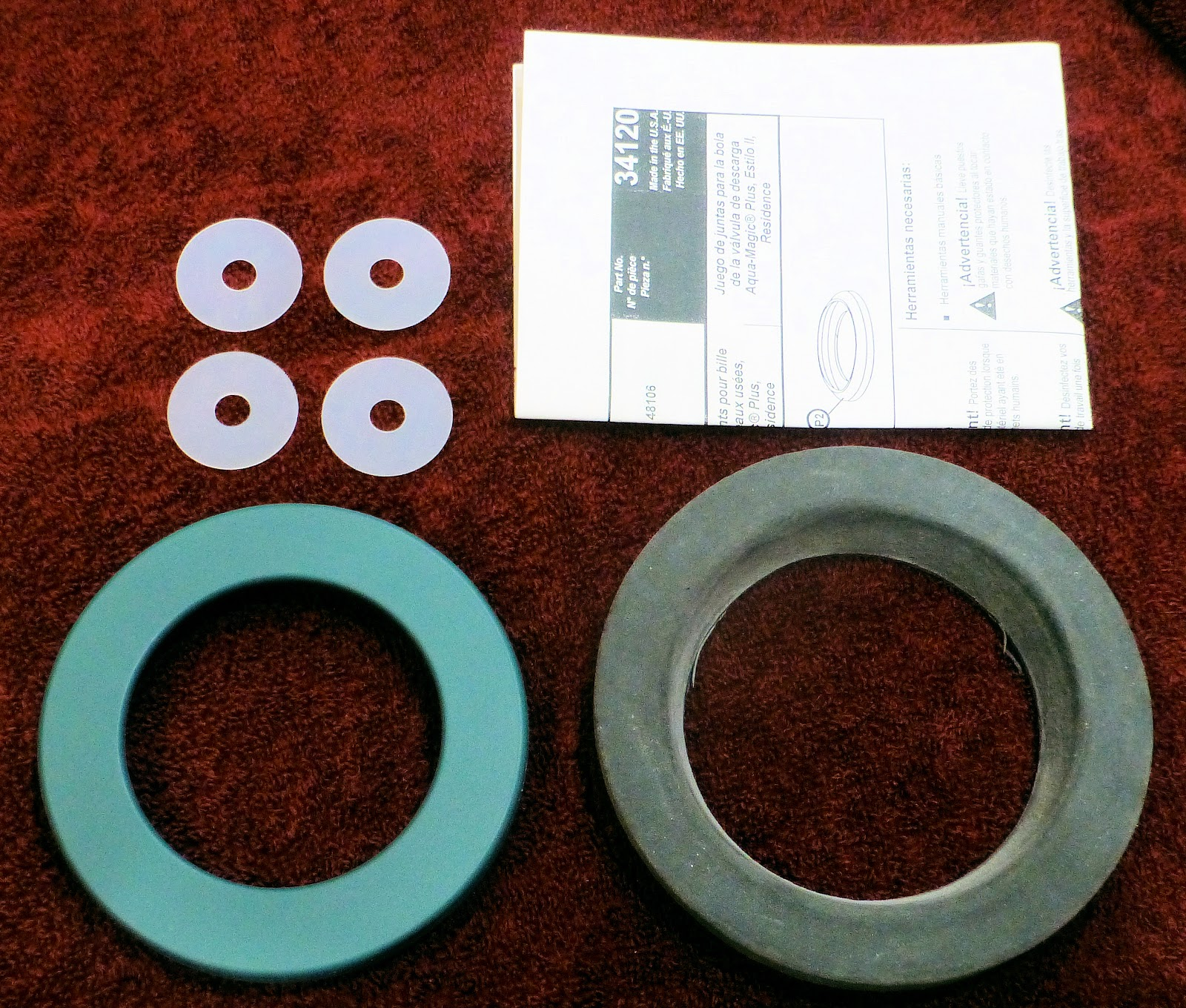 Gonebyrv Thetford Waste Ball Seal Repair Toilet Parts Breakdown Together With Rv Diagram Here Is A Picture Of The Items Included In This Kit Youll Get Instructions 4 Nylon Thin Washers Closet And Valve Bottom