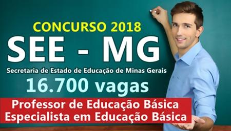 Apostila Concurso SEE-MG 2018 - Secretária de Estado de Educação de Minas Gerais