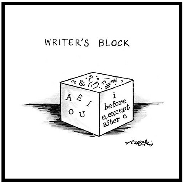 New Yorker Cartoon - Writer's Block - by Hentry Martin