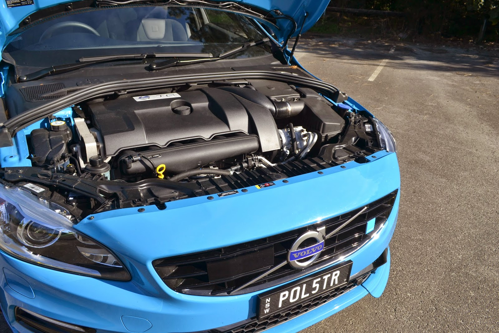 Volvo V60 Polestars powerful turbo charged inline 6 or T6 for short
