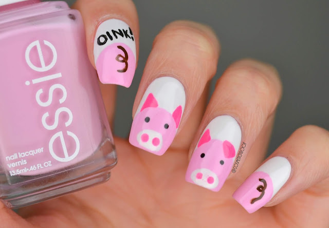 Year of the Pig Nail Art