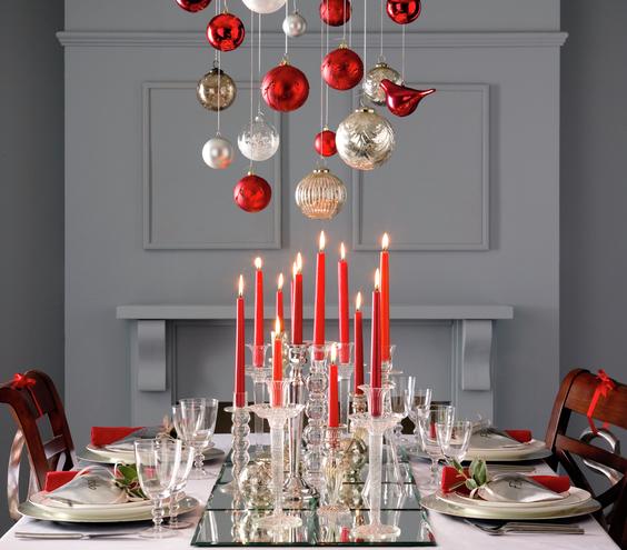 mesa natal vermelha