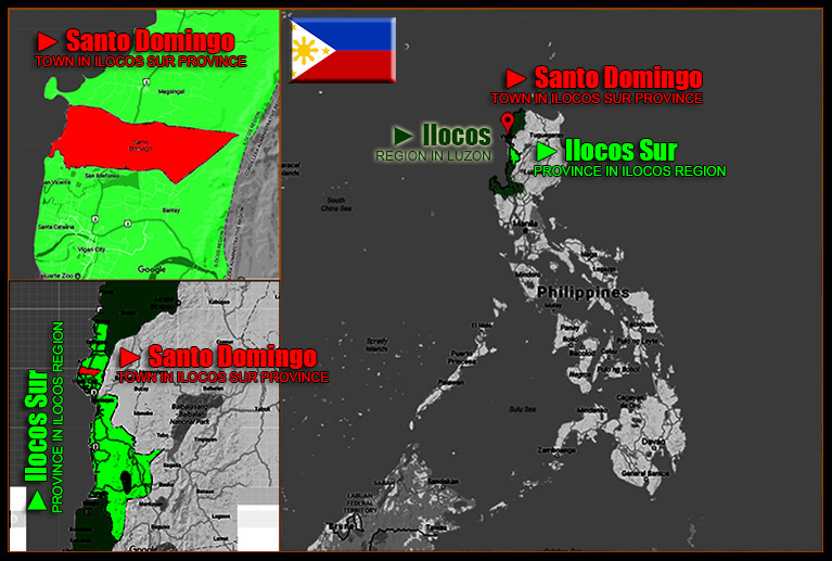 MAP OF SANTO DOMINGO, ILOCOS SUR
