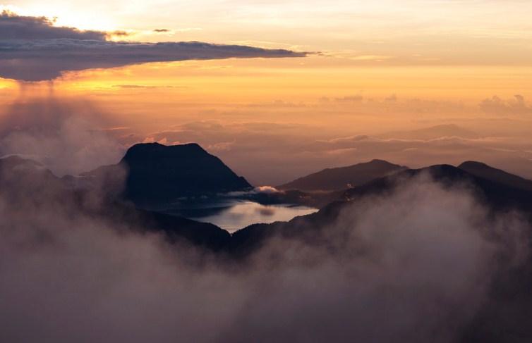 Sunset Danau Gunung Tujuh Kerinci