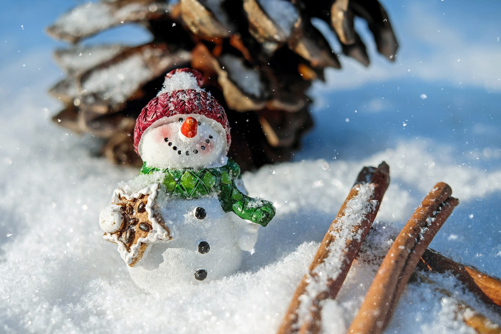 snow-man-christmas-desktop -wallpaper