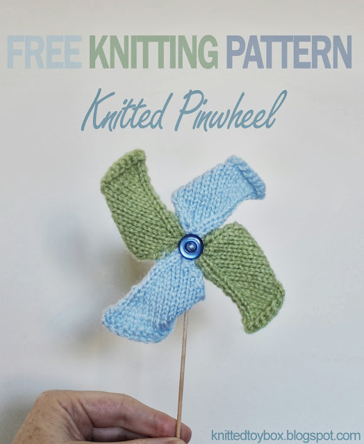 Pinwheel Knitting Pattern : Knitted Toy Box: Pinwheel Toy Knitting Pattern