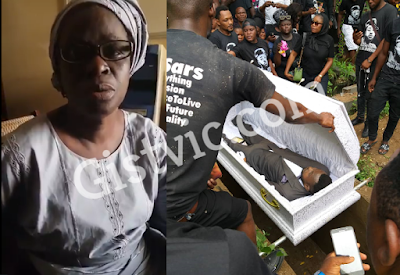 Mother Of Kolade Johnson Who Was Killed By SARS Thanks Nigerians For Their Help And Support