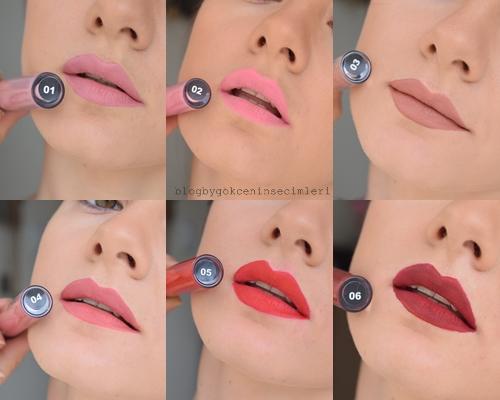 Gökçenin Seçimleri Farmasi Matte Lipstick Tüm Renkler