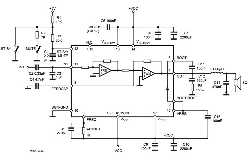 amplifiercircuits.com: 10w+10w b w zeppelin circuit diagram #14