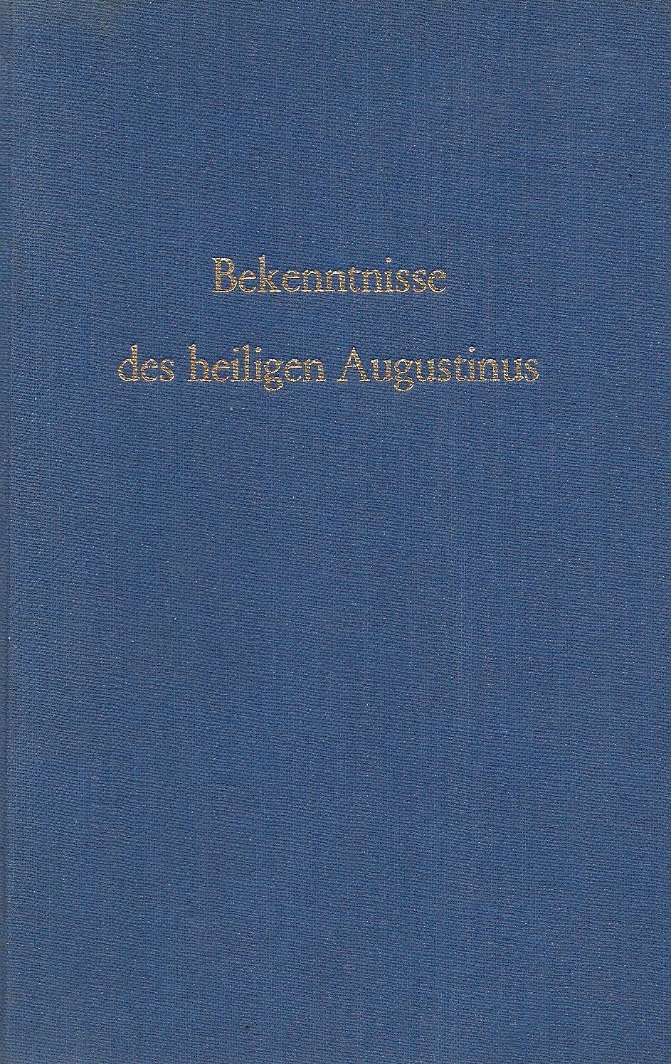 bekenntnisse des augustinus
