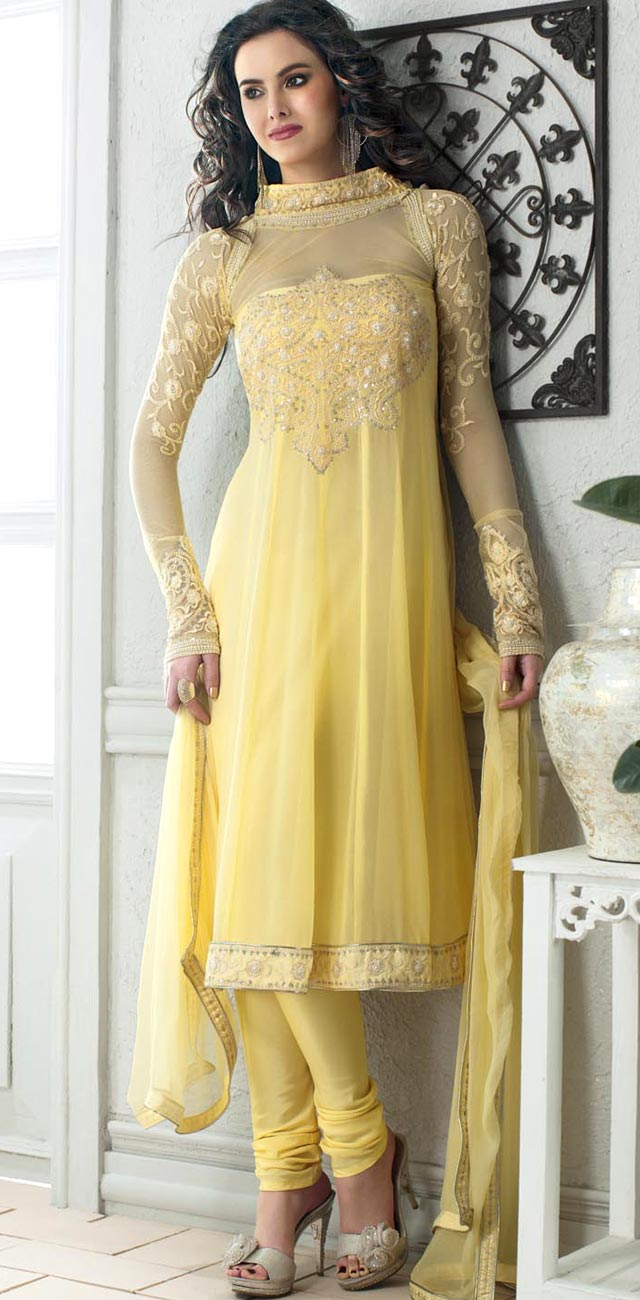 cda662768e Asian Salwar Kameez with Embroidery Applications and New Concepts of  Designing