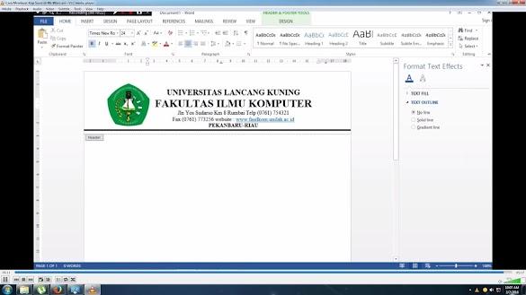 Cara Membuat Garis Kop Surat di Word 2010