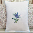 LMD Embroidery Thistle Art Throw Vintage Liberty Fabric Designer Artistic Cushion