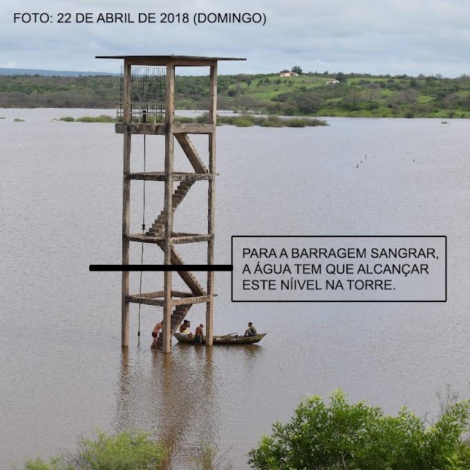 Veja em qual nível a água precisa estar na torre para a Barragem sangrar
