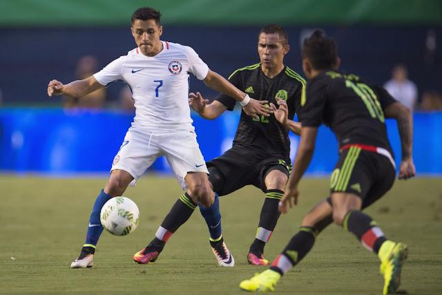 México y Chile en partido amistoso, 1 de junio de 2016