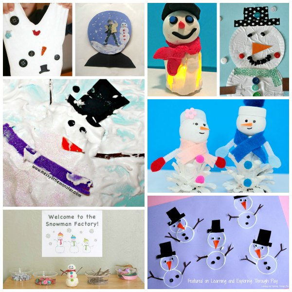 Snowman Crafts, Snacks and Activities
