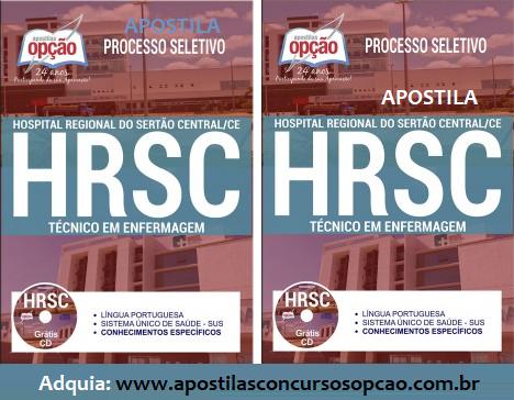Apostila Processo Seletivo HRSC 2017 - Hospital Regional do Sertão Central - CE