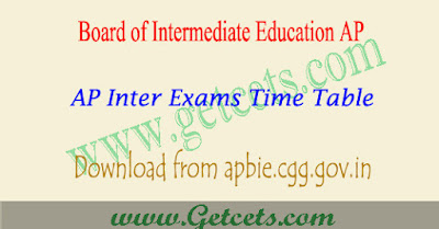 AP Inter time table 2020, IPE 1st & 2nd year exam dates 2021