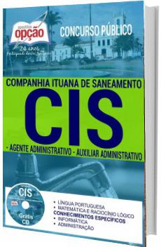 Apostila CIS-SP 2017 Agente Administrativo e Auxiliar Administrativo