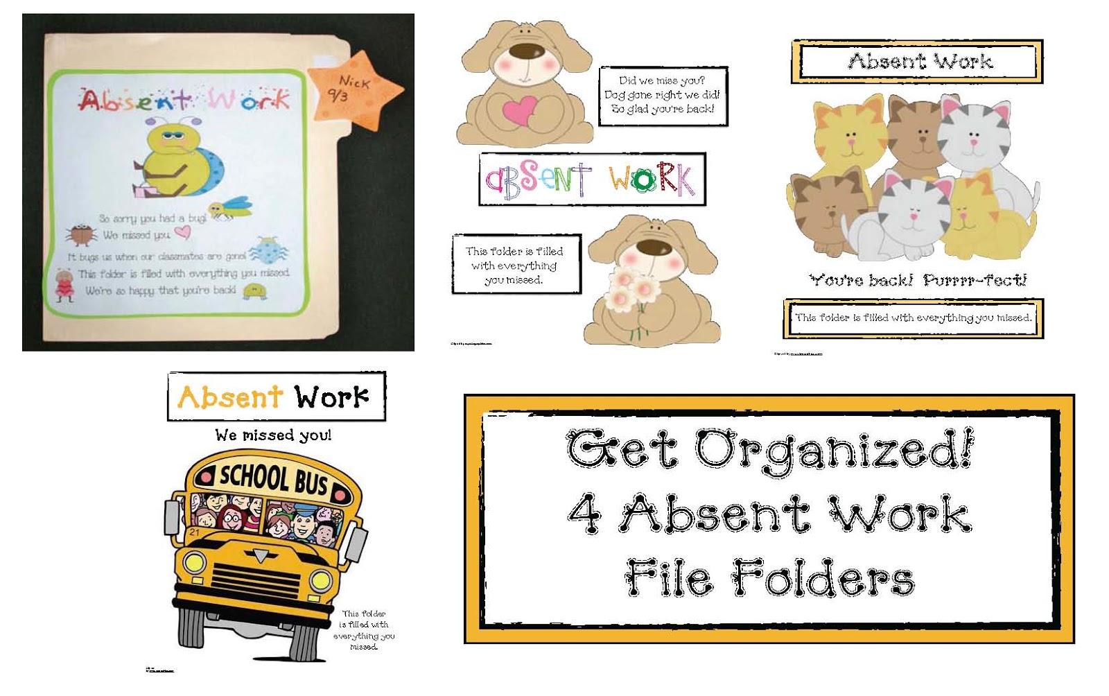 Classroom Management Tip Absent Folders