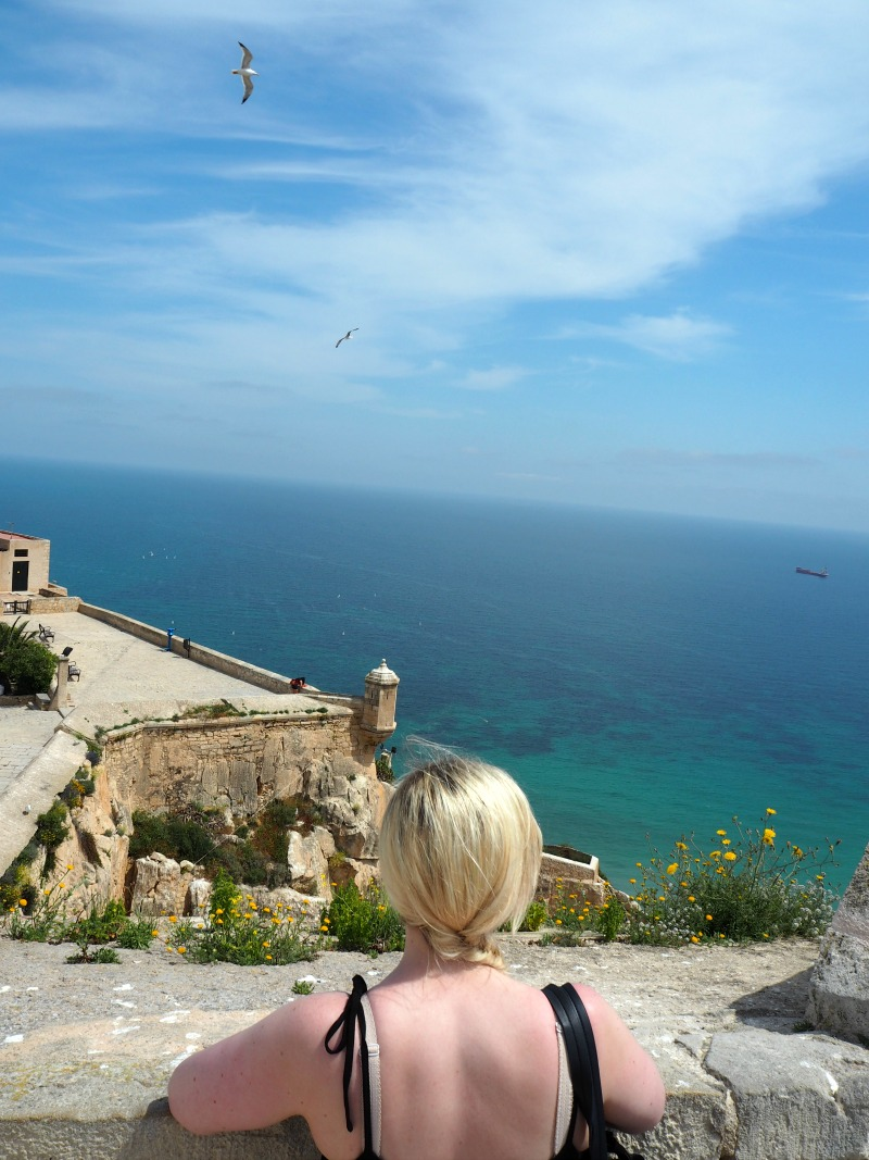 Looking out over the sea from the castle in Alicante