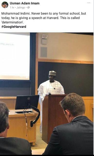 Billionaire businessman, Muhammadu Indimi despite having no formal education, delivered speech at Harvard University