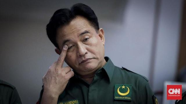 Yusril soal 'Partai Buatan Bowo': Berani Sumpah Pocong?