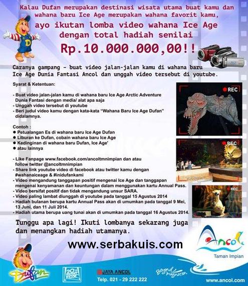 Kontes Video Ice Age Berhadiah Uang Total 10 JUTA