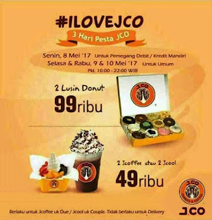Promo JCO 2 Lusin Donat 99 ribu 3 Hari Pesta #ILoveJCO