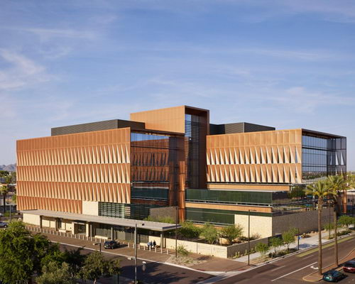 Tinuku.com ZGF Architects designed facade screen for green buildings University of Arizona Cancer Center