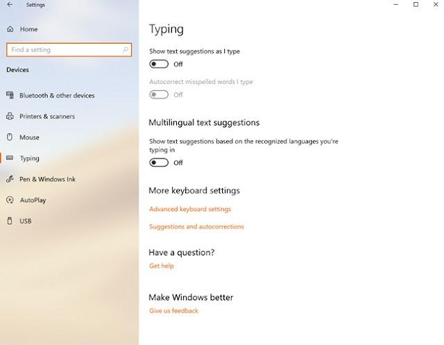 Cara Menonaktifkan SwiftKey Keyboard di Windows 10 Redstone 5