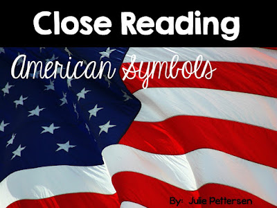 close reading passages on american symbols with science experiment, crafts, ELA activities and more.
