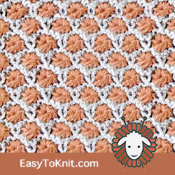 Textured Knitting 6: Aster flower | Easy to knit #knittingstitches #knittingpattern