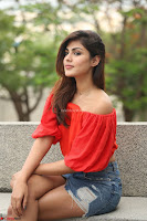 Rhea Chakraborty in Red Crop Top and Denim Shorts Spicy Pics ~  Exclusive 280.JPG