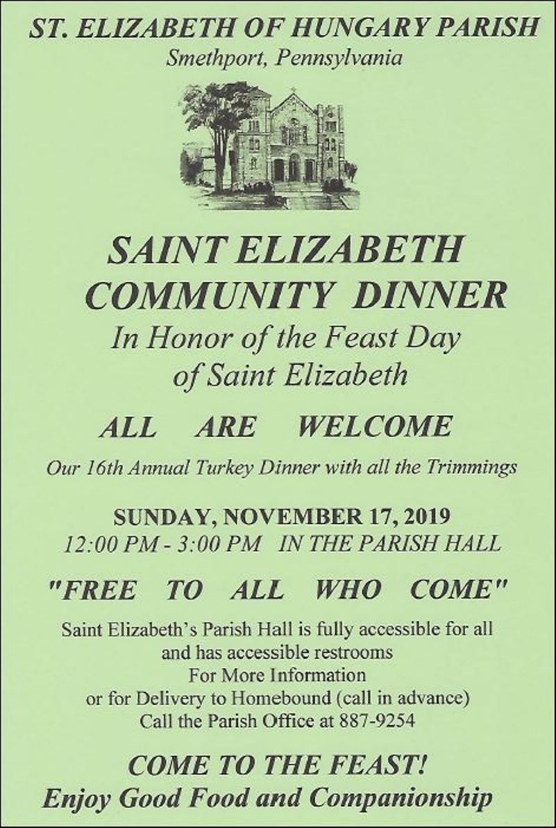 11-17 Saint Elizabeth Free Community Dinner