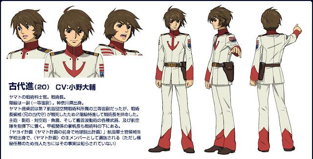 Diseño de personajes de Yamato 2199