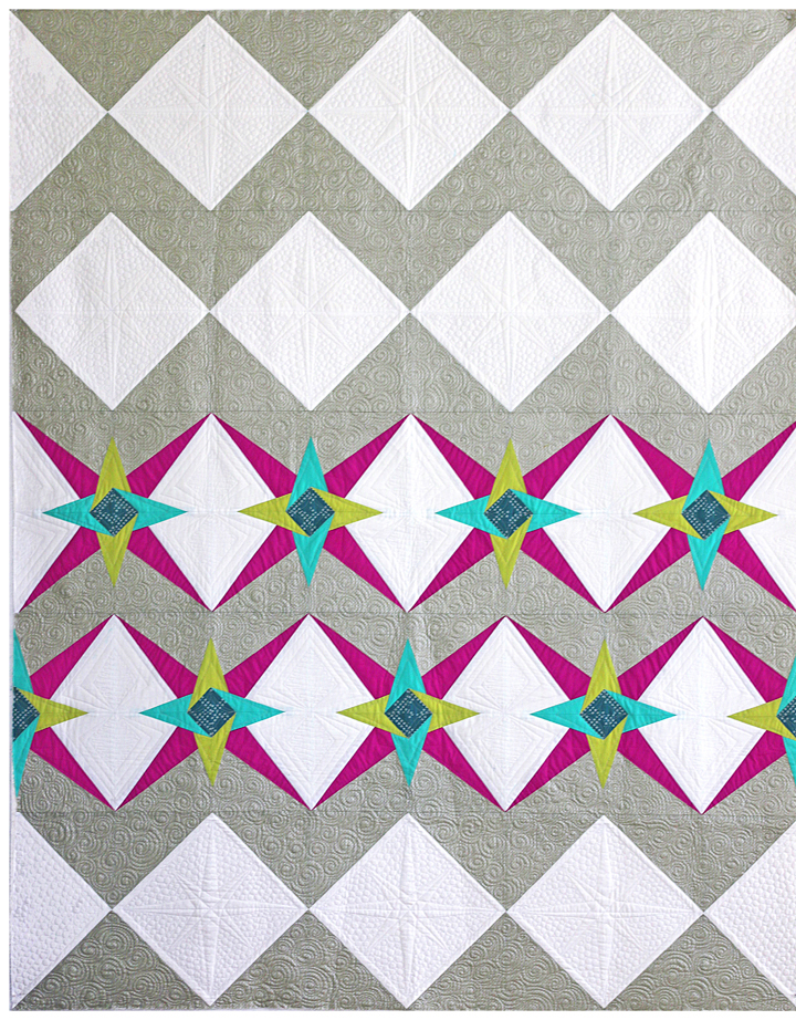 Freshly Pieced Modern Quilts: New Chevron Star Quilt Pattern - And It ...