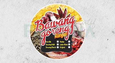 Sticker Produk Bawang Goreng Rangup Pawona Kreatif