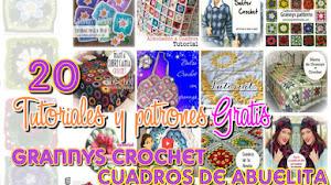 20 Tutoriales y patrones para tejer con grannys / Colección