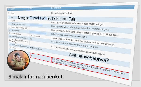 Mengapa Tuprof TW I 2019 Belum Cair. Simak Informasi Berikut