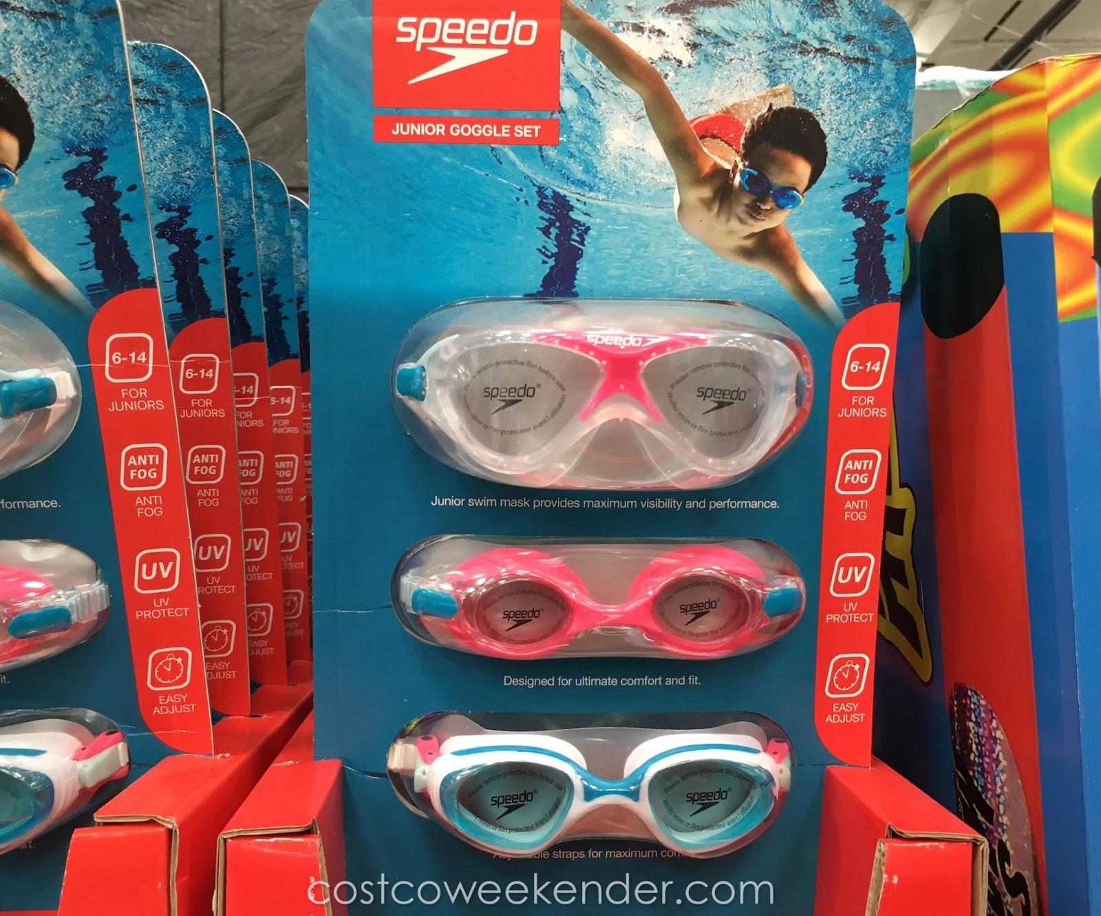 Speedo Junior Swimming Goggles Set 3 Pack Costco Weekender
