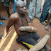 See Photo Of Man Caught Stealing Yam In Onitsha Main Market